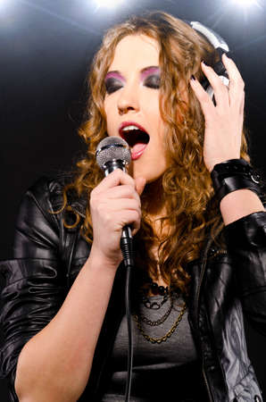 singing rock music photo