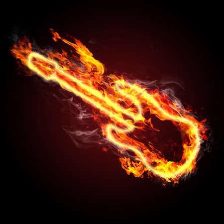 fiery guitar Stock Photo - 11144805