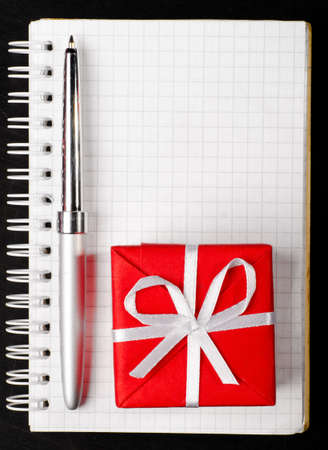 gift box with notepad photo