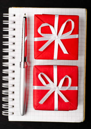 gift boxes with notepad photo