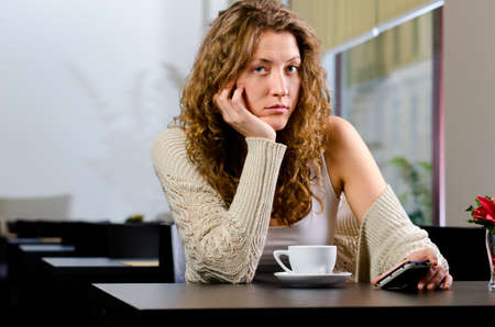 young woman at cafe photo