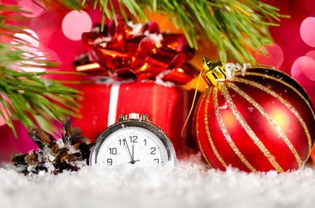 gift box and clock photo
