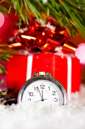 gift box and clock photo