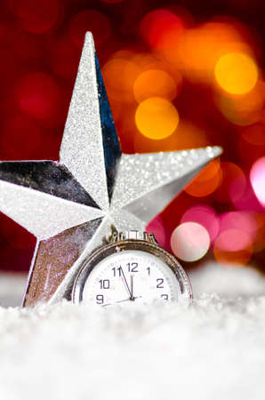 decorative star and clock photo