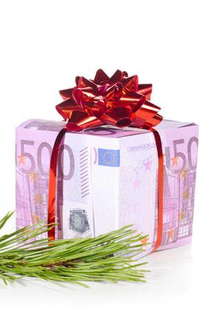 gift box made of euro photo