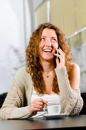 woman is talking phone photo