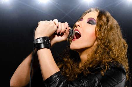 stage make up: singing rock song