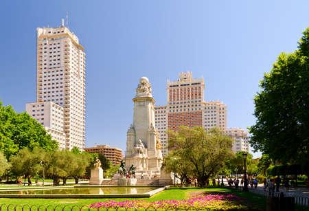 madrid  spain: Plaza de Espana