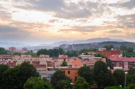 Girona city view photo