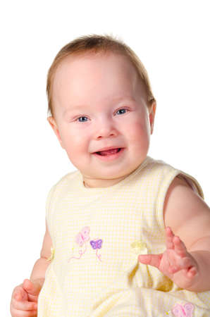 baby is smiling photo