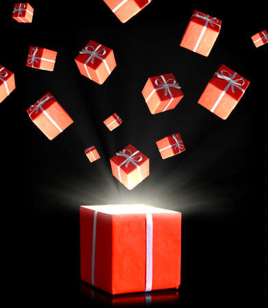 red gift boxes photo