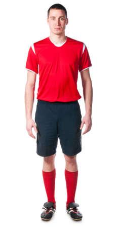 football socks: soccer player