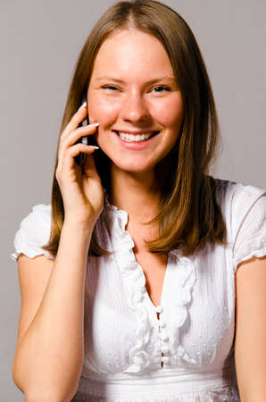 woman is talking phone Stock Photo - 12780002