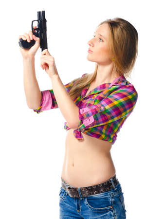 woman with gun Stock Photo - 12780972