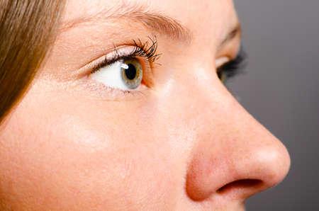 nariz: cara de mujer hermosa