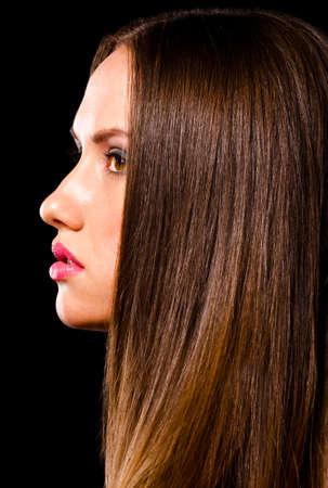 dark side: beautiful woman