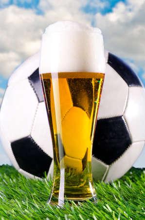 bier en sport Stockfoto