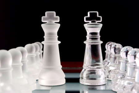 Chess. Pawns and kings. photo