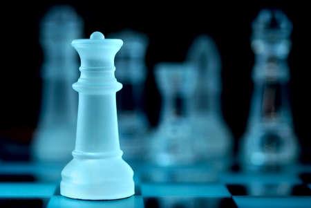 strategic focus: Chess game Stock Photo