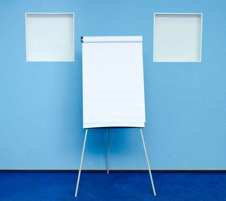 flip chart in conference room at hotel ready for business training Stock Photo - 13642051