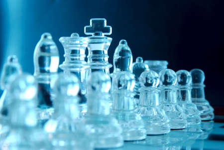 bishop chess piece: Chess team Stock Photo