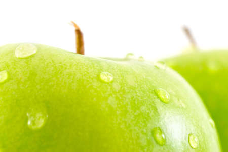 two fresh green apples, close-up Stock Photo - 13758178