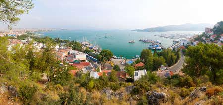 fethiye: panoramic view of a sea resort city, Fethiye, Turkey