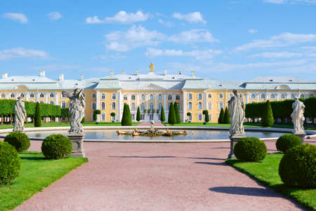 saint petersburg: palace in Peterhof, Saint-Petersburg, Russia