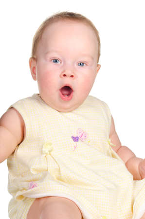 baby is surprised photo