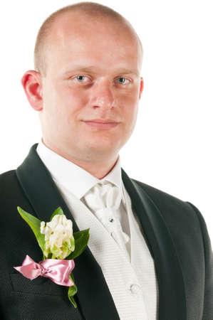 happy groom photo