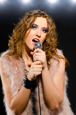 singing glam rock song photo