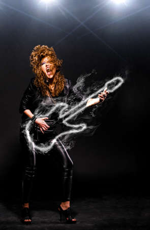 playing rock music Stock Photo - 13799788