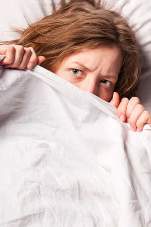 woman in bed Stock Photo - 13799685