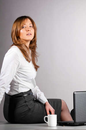 provocative women: sexy business woman Stock Photo