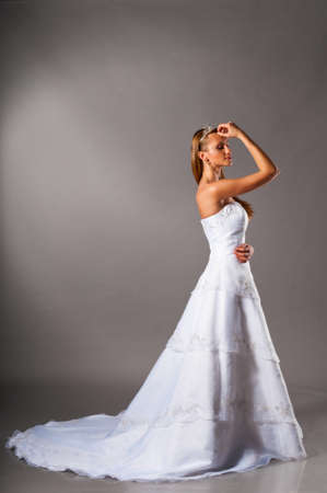 bride in wedding dress photo