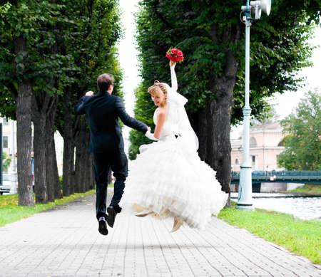 bruiloft sprong Stockfoto