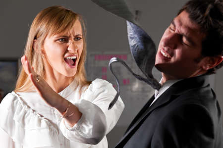 violence at office Stock Photo - 13799916