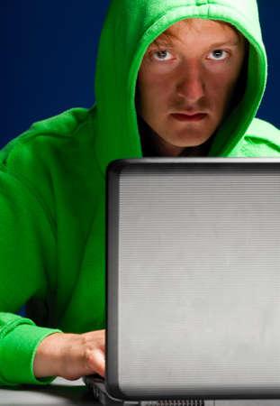 hacker portrait photo
