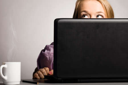 office woman with laptop Stock Photo - 13820481