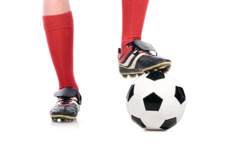 football socks: legs of soccer player