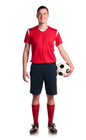 young boy feet: soccer player