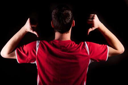 voetballer Stockfoto