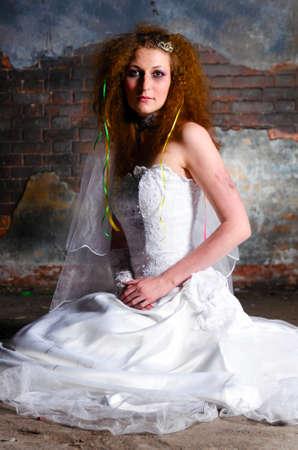 trash the dress woman photo
