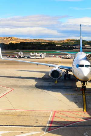 airport runway: airport