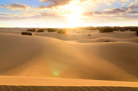 january sunrise: Maspalomas desierto