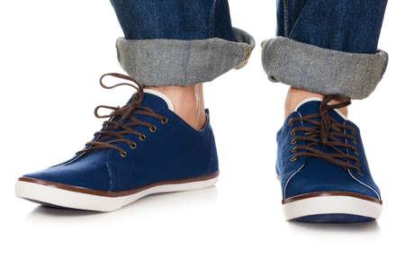 lacing sneakers: blue plimsolls