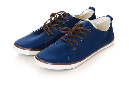 lacing sneakers: blue plimsolls