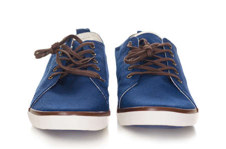 blue plimsolls Stock Photo - 14402344