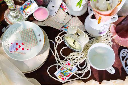 tea party: tea party in park Editorial