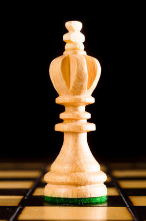chess king: wooden king